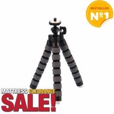 2016 Mini Tumpuan Kaki Tiga Kamera Digital Ponsel Fleksibel Cengkeraman Gurita Stan Gelembung Monopod Kaki Pemegang Kamera Kecil Yang Fleksibel Stan (abu-abu)