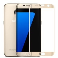 Diskon 2016 Baru 3D Full Cover Melengkung Tempered Glass Screen Protector Untuk Samsung Galaxy S7 Edge G935F 9350 Emas