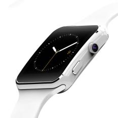 2016 Baru Bluetooth Smart Watch X6 Smartwatch Sport Jam Tangan untuk Apple IPhone Android Ponsel dengan Kamera FM Mendukung SIM Kartu P130 (Putih)