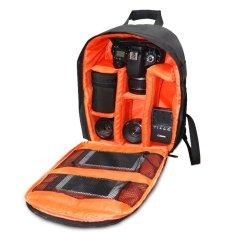 2016 Baru DSLR Ransel Tas Kamera untuk Canon SX50 SX60 6D 70D 60D 100D 500D 550D 600D 650D 700D 1100D (HITAM dengan Orange)