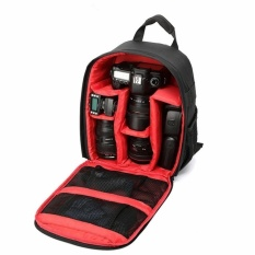 2016 New DSLR Camera Bag Backpack For Canon SX50 SX60 6D70D60D100D500D 550D 600D 650D 700D 1100D (Black with Red)(Black) - intl