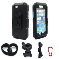 2016 BARU Dudukan Stang Sepeda Motor untuk IPhone 5/5 S/5/SE Dudukan Telepon Sepeda Dukungan Waterproof Case (hitam) -Internasional