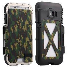 2016 BARU R-JUST ARMOR KING Iron Man Keren Luxury Logam Aluminium Shockproof DUST-Proof Case Cover untuk Samsung Galaxy S7-Kamuflase