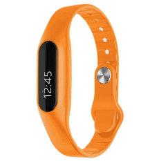 2016 Terbaru C6 Smart Band Aktif Kebugaran Tracker Monitor Detak Jantung SMS Panggilan Pengingat Bluetooth 4.0 Menyentuh Layar Smartband (orange) -Intl