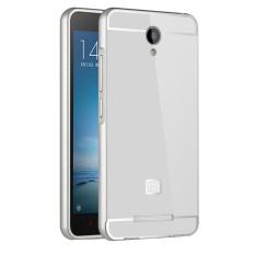 2016 Kasus Telepon untuk Xiaomi Redmi Note 2 Prime Case Aluminium Bingkai Logam & Acrylic Back Cover Set untuk Hongmi Note2 Prime Cases (Silver) -Intl