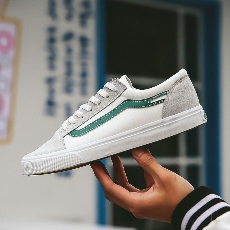 Promo 2017 Baru Pria Olahraga Sepatu Kanvas Sepatu Rendah Untuk Membantu Sepatu Putih Kecil Intl