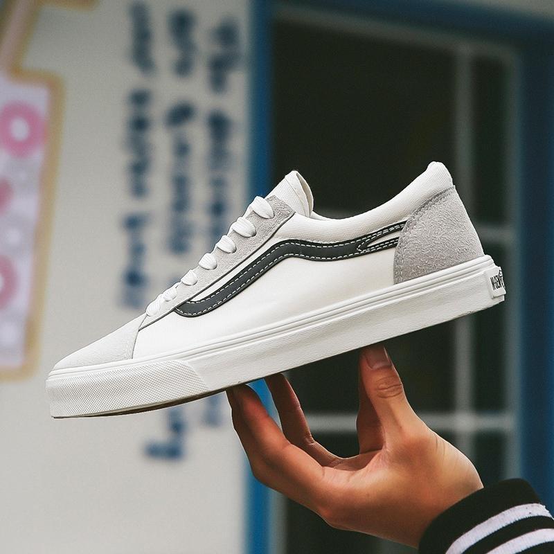 Jual 2017 Baru Pria Olahraga Sepatu Kanvas Sepatu Rendah Untuk Membantu Sepatu Putih Kecil Intl Original