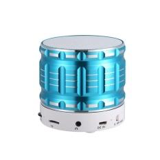 2017 Murah mini Tf Kartu LED Aluminium Bluetooth Speaker dengan Suara Bass-Intl