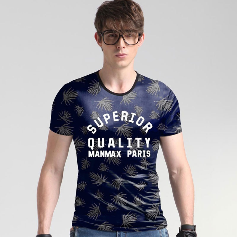 Ulasan Lengkap 2017 Men S Fashion Casual Korean Silk Leisure Slim T Shirt Large Size Printing T Shirt Intl