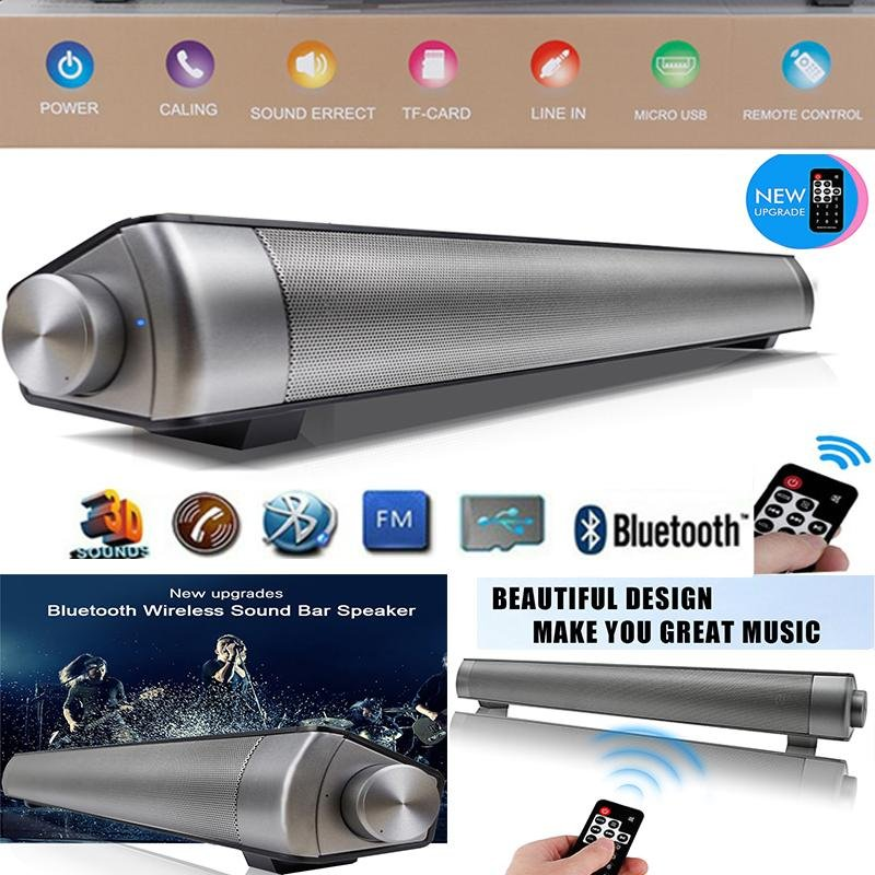 Beli 2017 New Upgraded Remote Controller Magnetic Slim Portable Nirkabel Soundbar Lp 08 Hifi Kotak Bluetooth Subwoofer Speaker Boombox Stereo Handsfree Speaker Untuk Tv Pc Ponsel Home Grey Intl Nyicil
