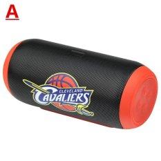 2017 Grosir dan Eceran Kualitas Tinggi Flip2 NBA Tim Nirkabel Bluetooth Outdoor Nyaman Bass Koleksi Versi Speaker + Komputer Peripherals (hitam) -Intl