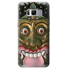 2018 DIY Bali Evil Mask Case Cover For Samsung Galaxy S8 - intl