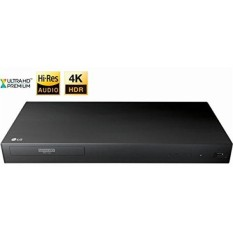 2018 LG UP870 4K 3D Ultra HD Blu-ray Player with Remote Control, HDR Compatibility, Upconvert DVDs, Ethernet, HDMI, USB Port, Black - intl