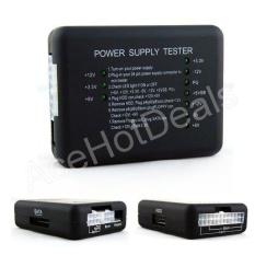 20/24 Pin LED PSU ATX SATA HDD Power Supply Tester Checker Meter PC Komputer-Intl