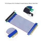 Diskon 20 Cm 7 87 Inch Pci E Express16X Untuk 16X Male To Female Riser Extender Kartu Kabel Pita Intl