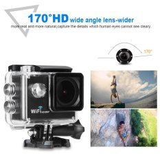 2 Lcd 12Mp 1080P Wifi Sports Action Camera 30M Waterproof Black Intl Original