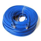 Harga 20 M 65 Kaki Rj45 Cat5E Cat5 Petak Jaringan Ethernet Internet Kabel Lan Kord Biru Baru Terbaik