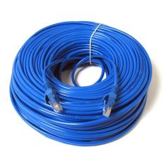 Jual 20 M 65 Kaki Rj45 Cat5E Cat5 Petak Jaringan Ethernet Internet Kabel Lan Kord Biru Baru Termurah