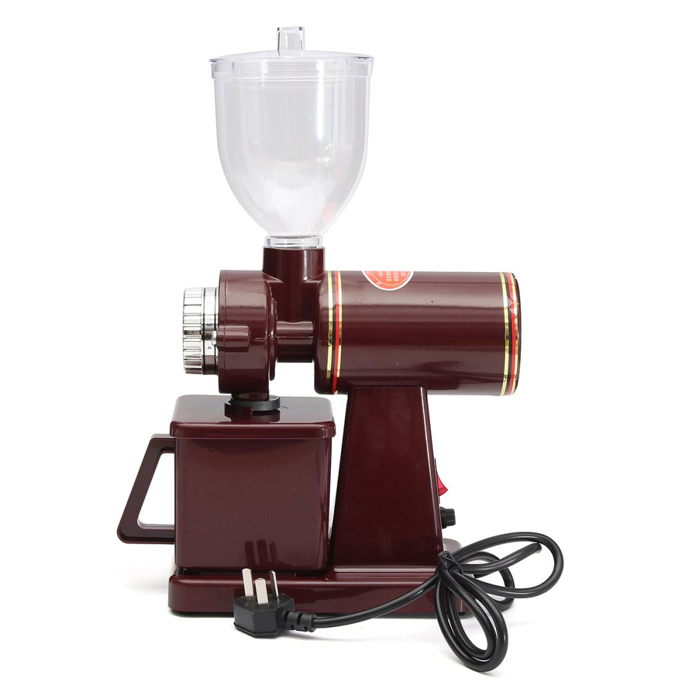 Jual 220 V 100 W Electric Auto Burr Mill Espresso Coffee Bean Grinder Maker Merah Intl Indonesia