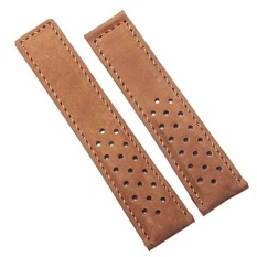 Jual 22Mm Brown Leather Watch Strap Band Kompatibel Dengan Tag Heuer Penyebaran Gesper Intl Lengkap