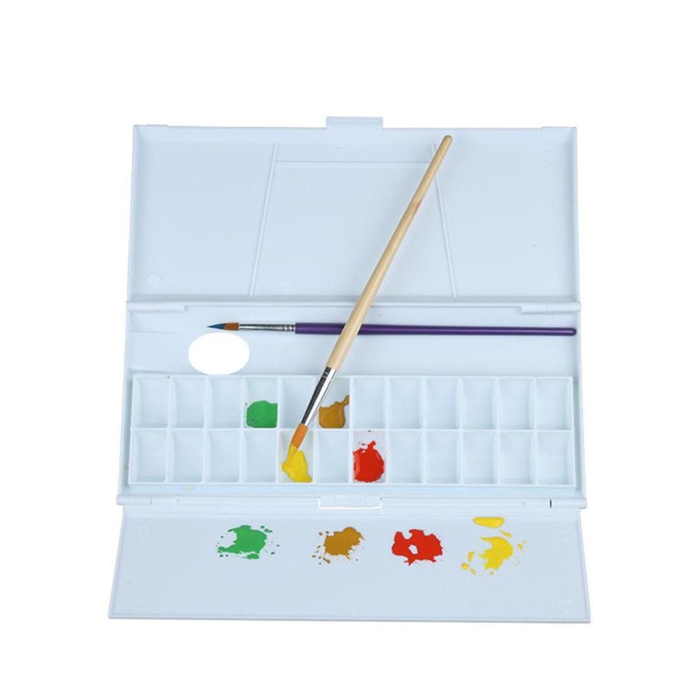 24 Kompartemen Plastik Putih Artist Paint Pencampuran Palet Minyak Watercolor Nampan-Internasional