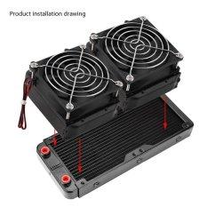 Promo 240Mm G4 1 Aluminium Radiator Pendingin Air Pendingin Untuk Komputer Cpu Led Heatsink Intl Oem Terbaru