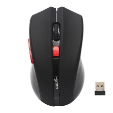 2.4G Adjustable 2400 DPI Wireless Optical Mouse Mice For Computer PC Laptop BK - intl