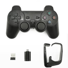 2.4g Wireless Joypad Game Controller Dengan Bracket Untuk Ponsel Android/pc/ps3/tv Box Model: Micro Usb-Intl By Redcolourful.
