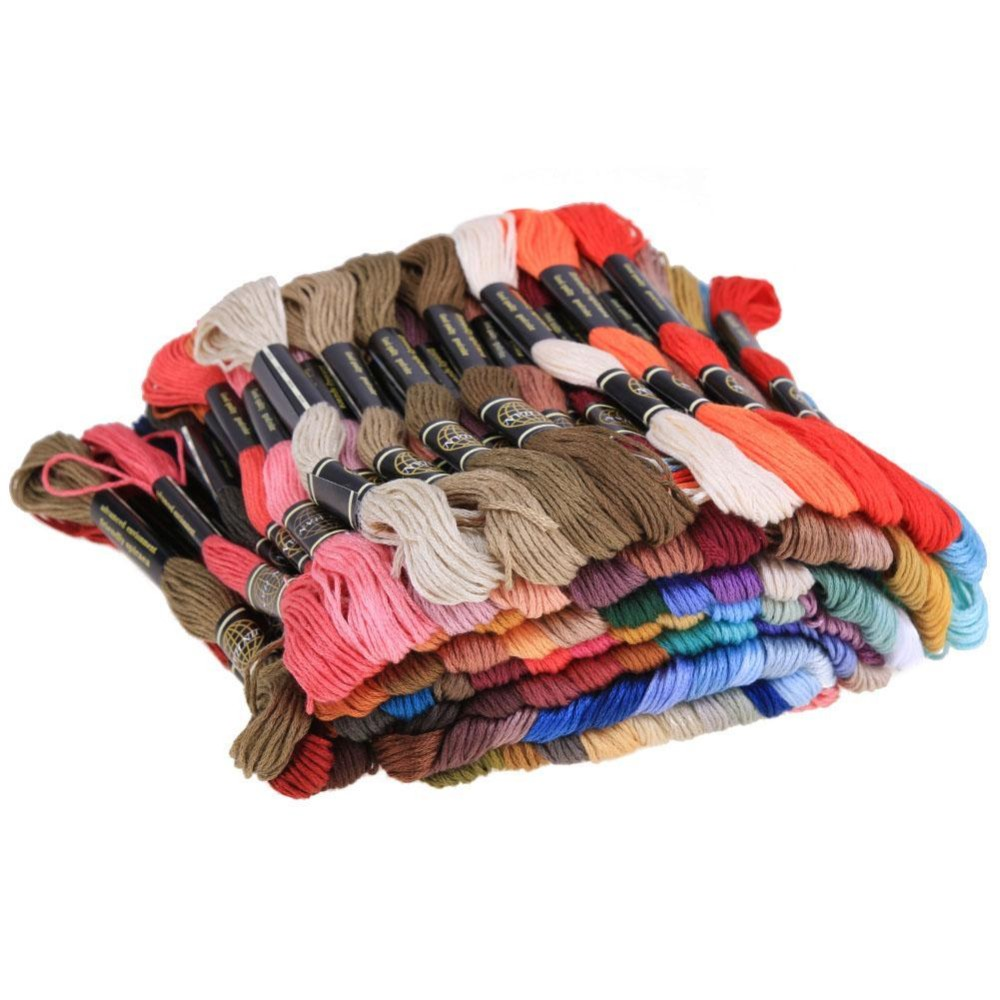 250pcs Colorful Polyester Cross Stitch Floss Sewing Skeins Craft Embroidery Threads - intl