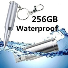 256 GB Baru Fashion Bullet USB Flash Memory U Disk Flash Drive 2 Warna-perak-Intl