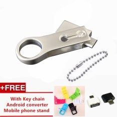 Situs Review 256 Gb Stainless Steel Rotating Dilipat Otg Usb Flash Pen Drive Key Pendant U Disk Smartphone Dual Antarmuka Memory Stick
