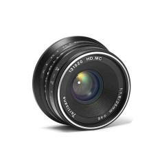 25 Mm F1.8 Fokus Manual Perdana Fixed Lensa untuk S0ny Emount Kamera Seperti A7 A7II A7R A7RII A7S A7SII A6500 a6300 A6000 A5100 A5000 EX-3 NEX-3N NEX-3R NEX-C3 NEX-F3K NEX-5 NEX-5N-Hitam-Internasional