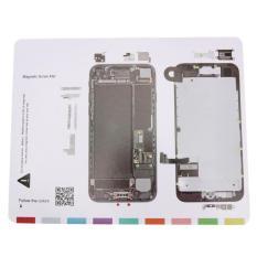 25X20 Cm Sekrup Magnetik Tikar Layar LCD Alat Pembuka untuk iPhone 7-Intl