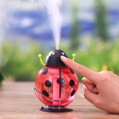 260 Ml Usb Beetle Air Purify Ultrasonic Humidifier Aroma Aromaterapi Minyak Esensial Diffuser Mini Portable Mist Humidifier Led Night Light Warna Merah Original
