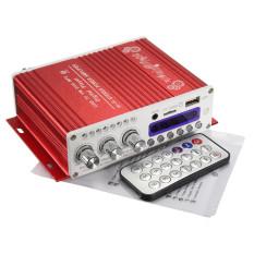 2CH 20 W Power Bluetooth Hi Fi Stereo AMP Amplifier Bass Booster untuk Mobil Rumah MP3 Merah