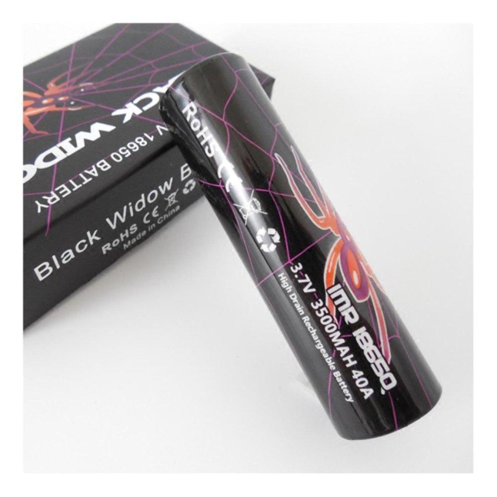 2PC AWT Baterai Black Widow IMR 18650 3500MAH 40A 3.7V High Quality