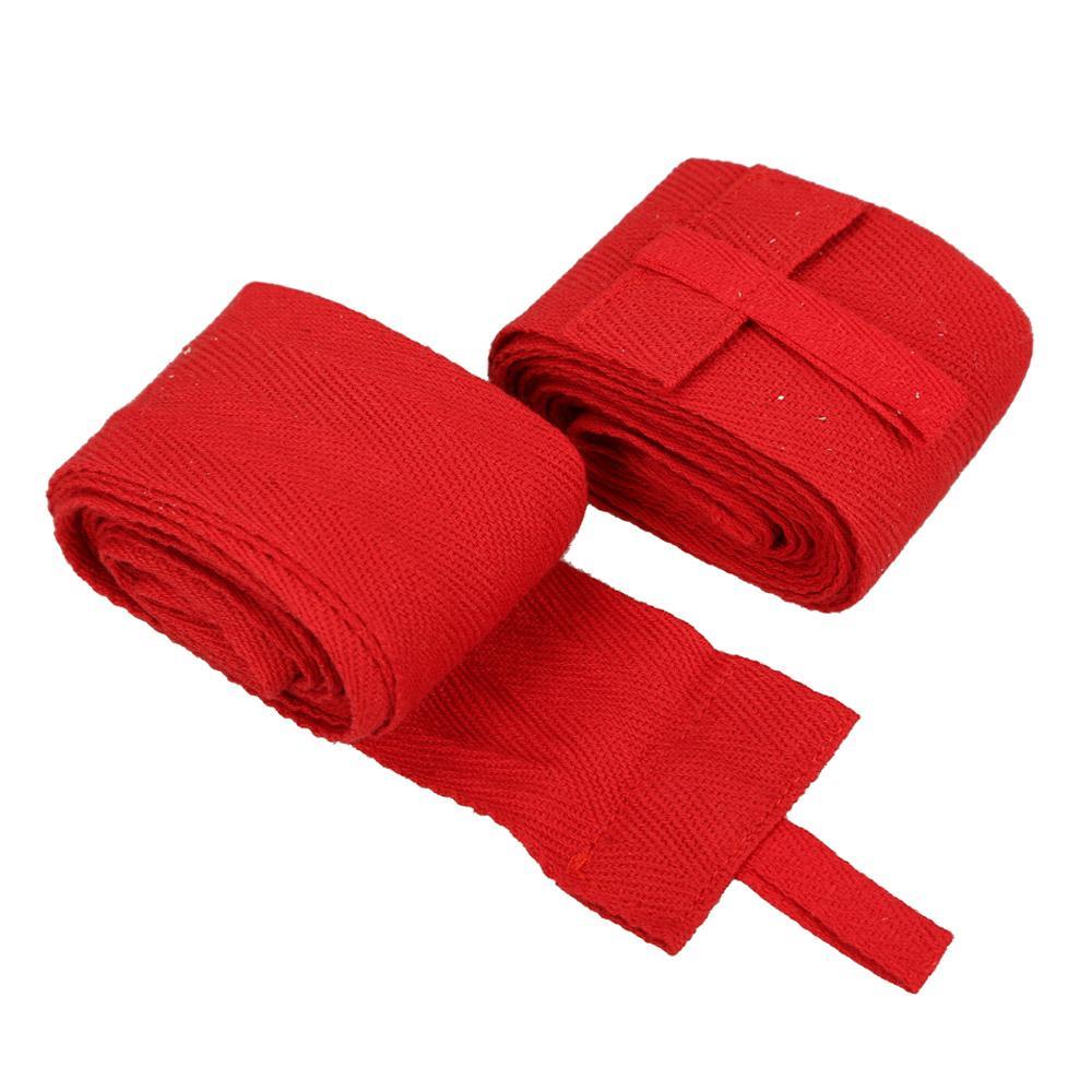 2 Pcs 2.4 M Sarung Tangan Tinju Perban MMA Kereta Pergelangan Tangan Melindungi Kepalan Tinju (Mera
