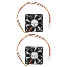 2pcs 3 Pin CPU 5cm Cooling Cooler Fan Heatsinks Radiator for PC Computer 12V - intl