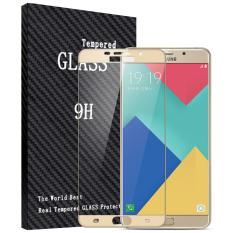 Harga 2 Pcs Byt Penuh Cover Tempered Glass Untuk Samsung Galaxy A9 Pro 2016 Premium 9 H Hardness 3Mm Electroplated Screen Guard Protector Film Oem Original
