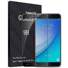 2 Pcs Byt Penuh Cover Tempered Glass Untuk Samsung Galaxy C7 Pro Premium 9 H Hardness 3Mm Electroplated Screen Guard Film Pelindung Internasional Asli