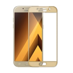 2Pcs Full Cover Tempered Glass For Samsung Galaxy A5 2017 Premium 3D Curved 9H Hardness 3Mm Electroplated Screen Guard Protector Film Gold Intl Terbaru