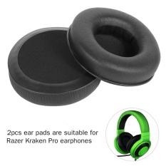 Toko 2 Pcs Headphone Soft Foam Earpad Wireless Bluetooth Cover Cusion For Razer Kraken Pro Hitam Terlengkap Tiongkok