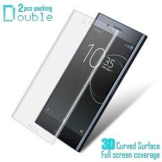 Beli 2 Pcs Imak Tahan Ledak 3 D Melengkung Cakupan Penuh Lembut Kaca Pelindung Layar Untuk Sony Xperia Xz Premium Online
