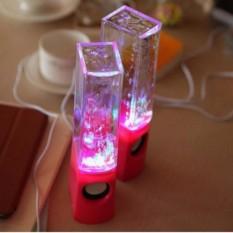 2 Pcs LED Light Dancing Water Music Fountain Light Hi-Fi Speaker untuk PC Laptop Telepon Meja Stereo Air Dancing -Intl