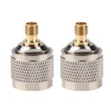 Harga 2Pcs N Male To Sma Perempuan Konektor Rf Coax Coaxial Adaptor Perak Emas Vakind Terbaik