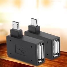 Review 2 Pcs Usb 2 Female Ke Pria Mikro Otg Adapter Power Supply Port 90 Derajat Kiri 90 Tepat Miring Terbaru