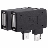 Toko 2 Pcs Usb 2 Female To Male Micro Otg Adaptor Power Supply Port 90 Derajat Kiri 90 Tepat Miring Intl Not Specified Di Tiongkok