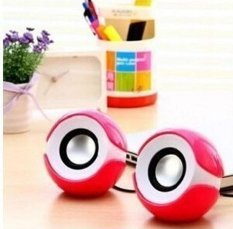 2 Pcs USB Powered Speaker PC untuk Notebook Laptop Desktop Pak 2-Intl
