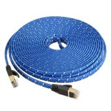2Pcs10M Durable Strong Cat 7 Cat7 Rj45 10Gbps Ethernet Flat Cable Lan Network Cord Intl Not Specified Diskon 40