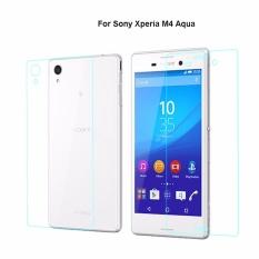 2 Pcs/lot 9 H 0.3mm 2.5D Depan + Belakang Tempered Glass AntiExplosion Screen Protector untuk Sony Xperia M4 Aqua -Intl